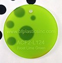 "BF Cast Acrylic 1/8"" Lime Green Frost (2-sided)"