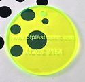 "BF Cast Acrylic 1/8"" Green Glow (2-sided gloss)"